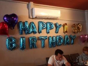 Happy Birthday balloons from Taobao