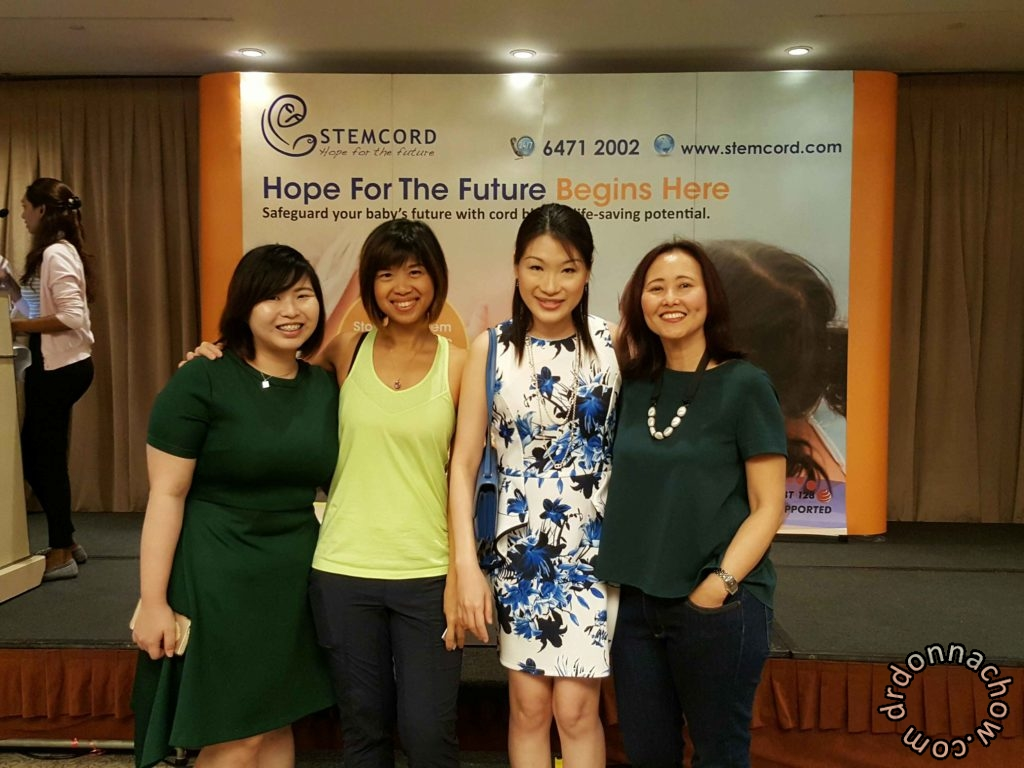 With fellow speaker Kareen and sponsors from Mustela