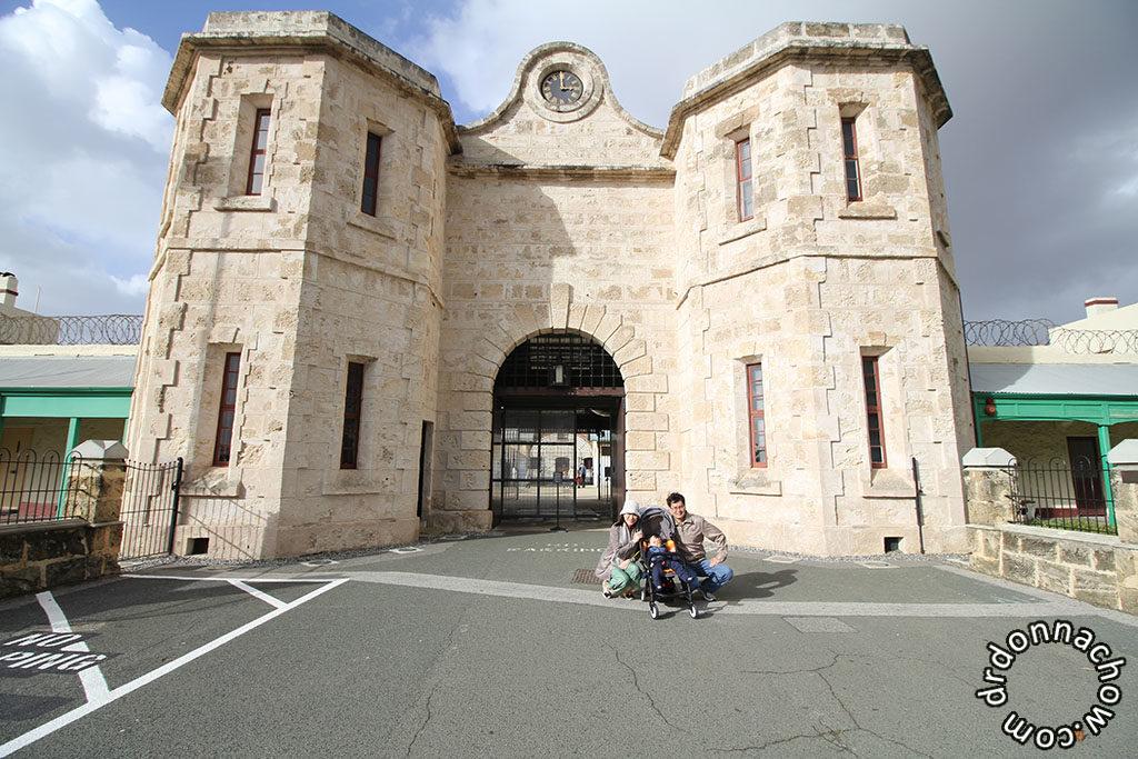 Outside Freemantle Prison