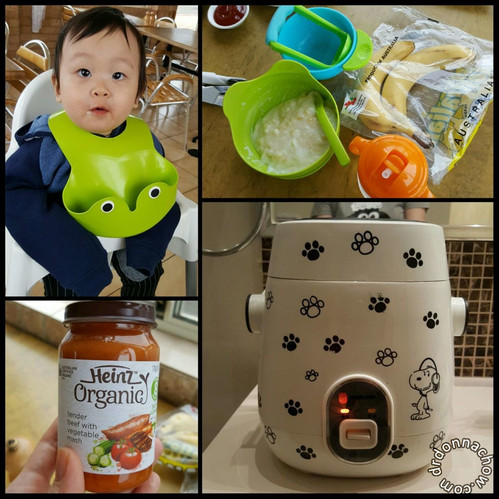 Preparing a meal for baby