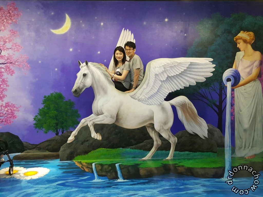 Together on the flying horse