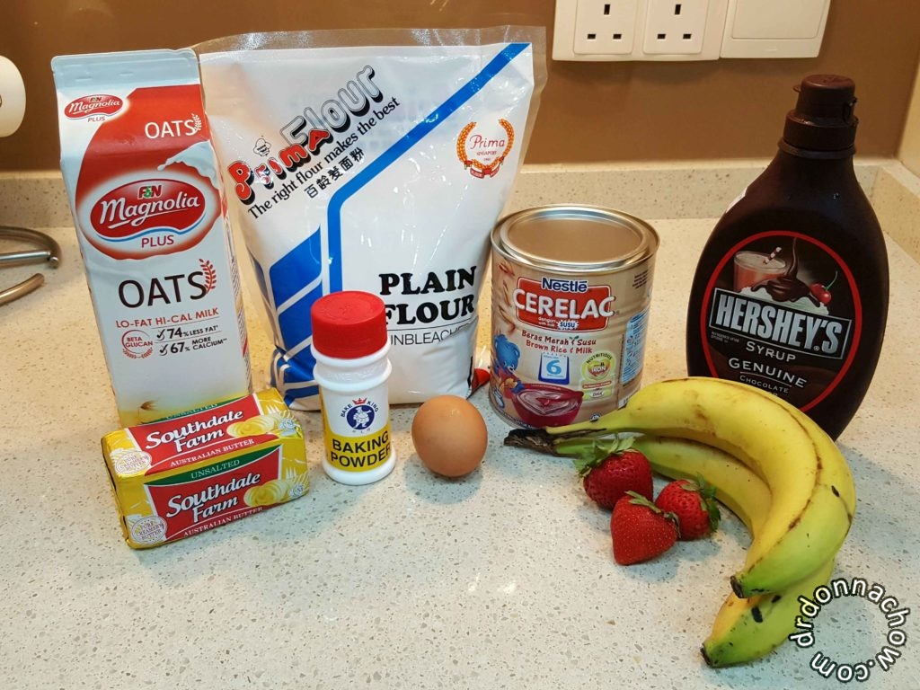 The ingredients you need for the pancake