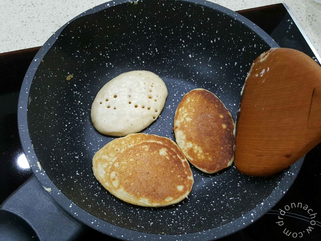 Frying the pancakes