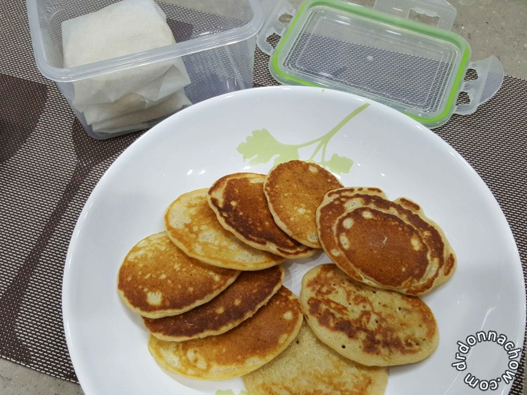 Enough to freeze some of the yummy pancakes