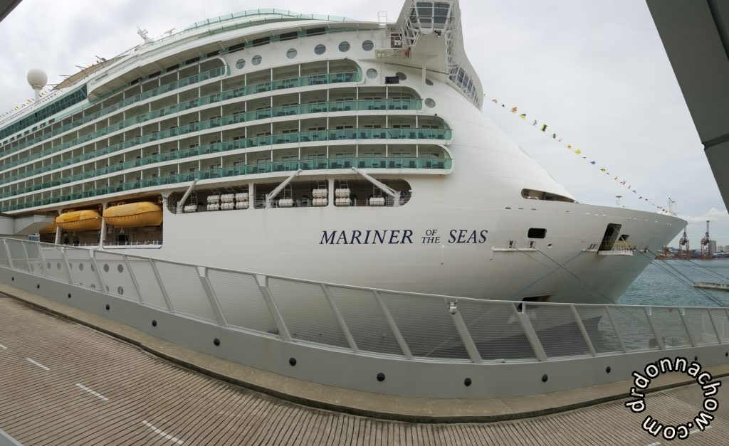 A view of the giant cruise liner