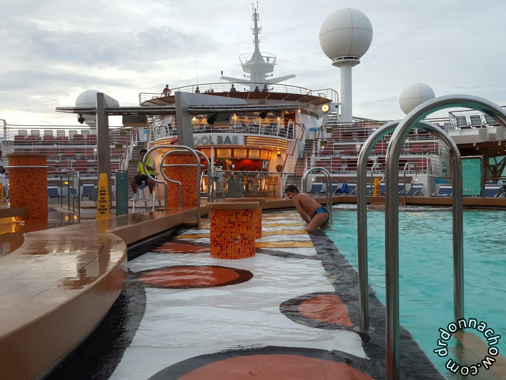 The swimming pools on board