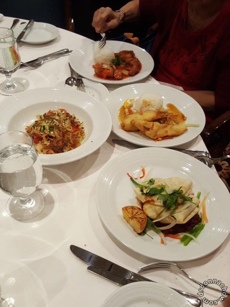 Fine dining at Rhapsody restaurant