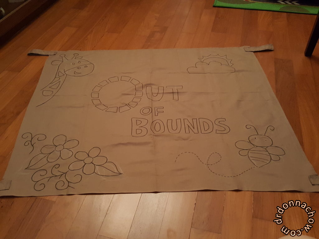 Outline of my design using a fabric marker