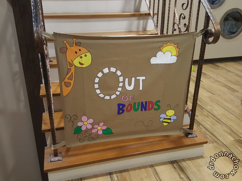 Completed DIY baby gate