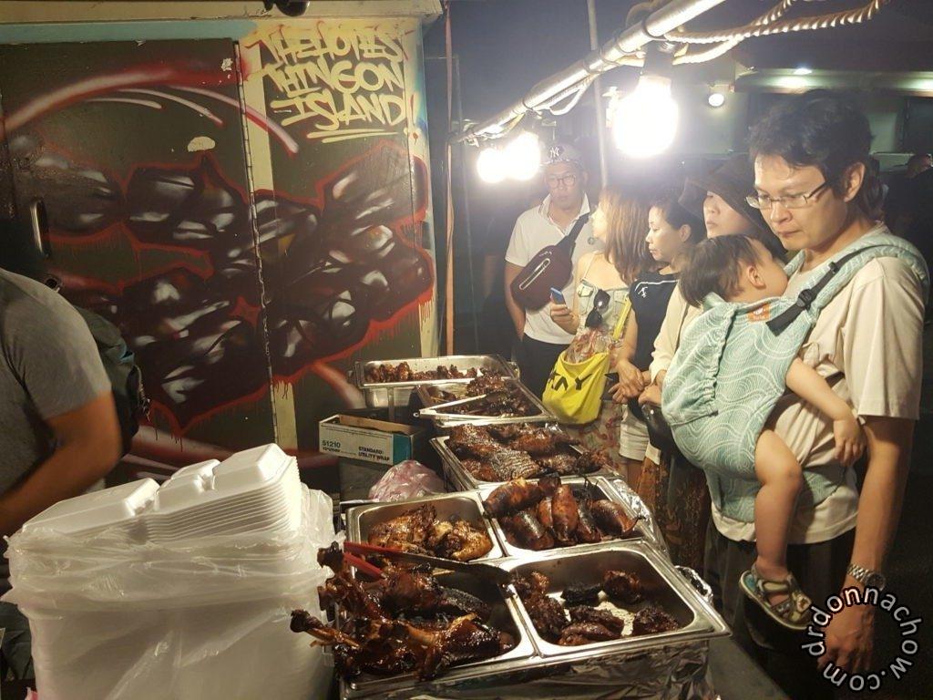 Selecting BBQ at Chamorro Village