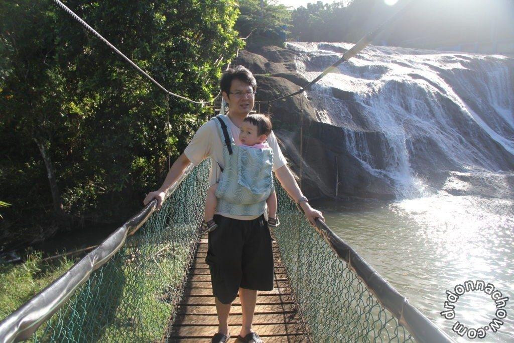 At Talofofo falls in Guam