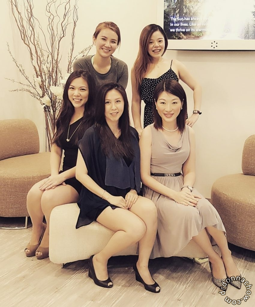 Sitting (L-R): Heidi, Shirley, Donna. Standing (L-R): Weijia, Elssa