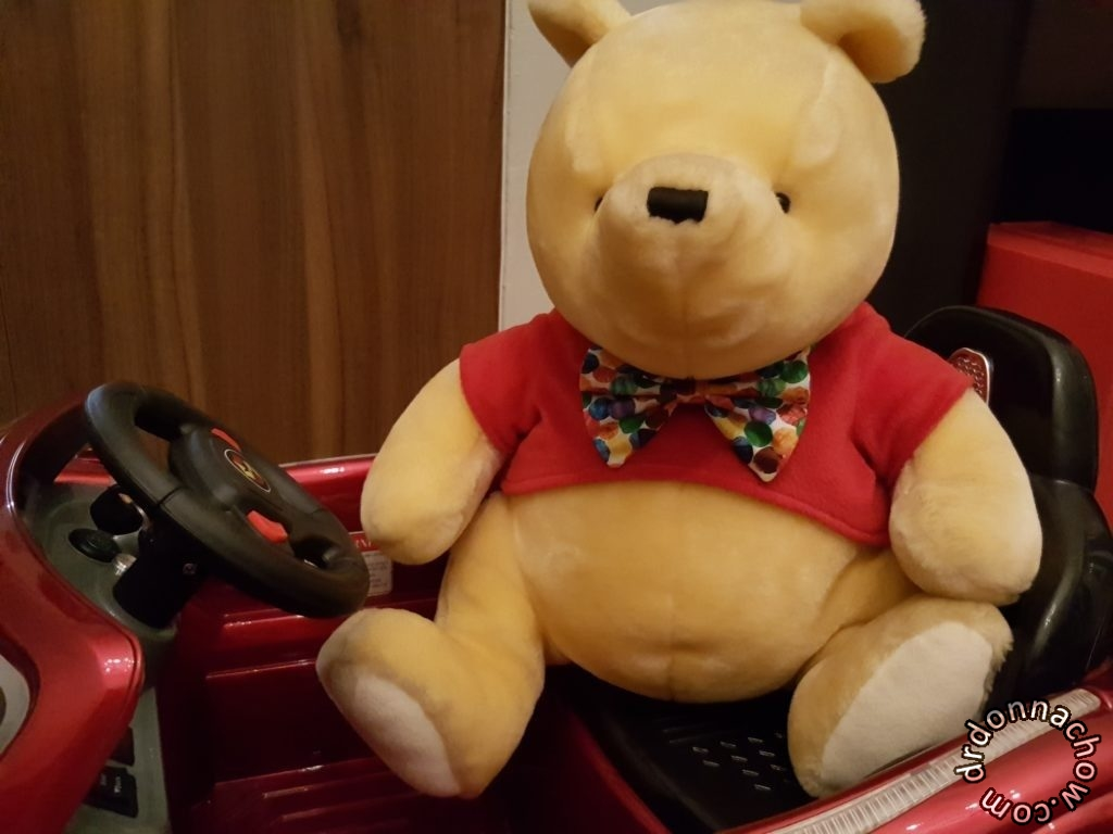 It looks good on Pooh Bear as well