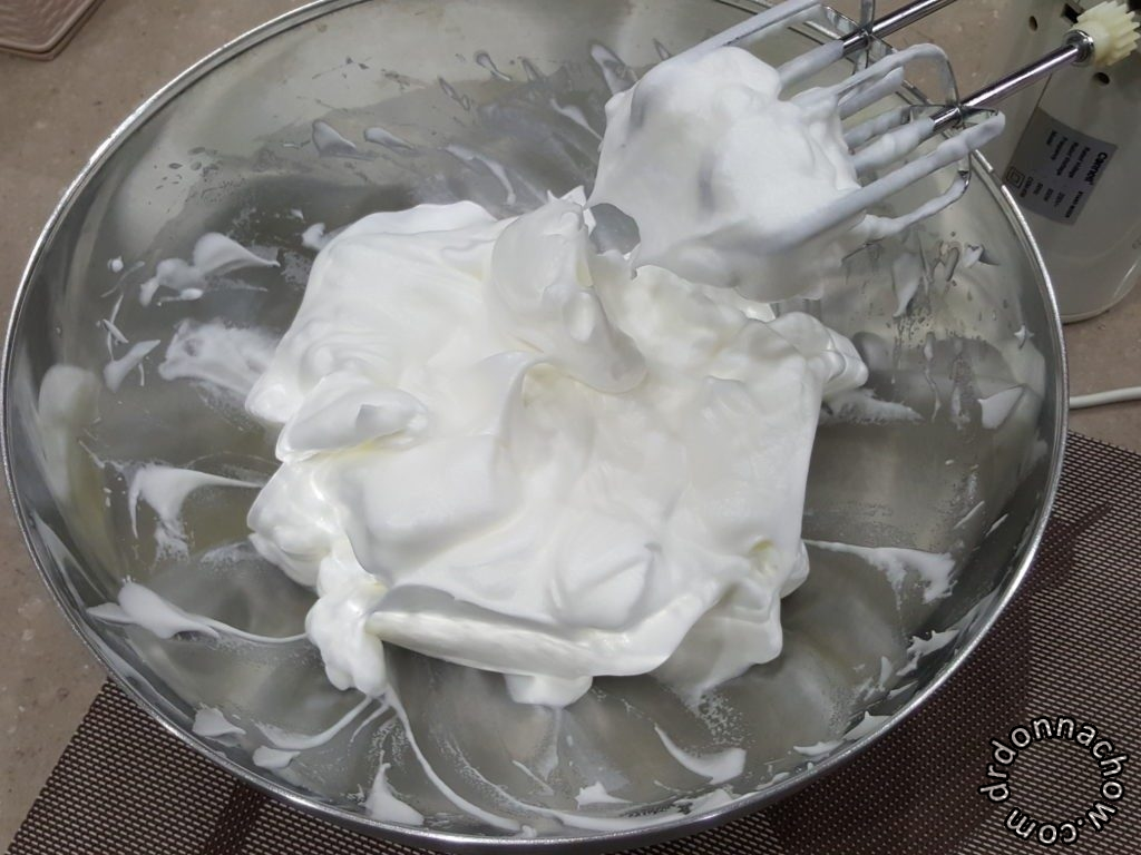 Beating the meringue