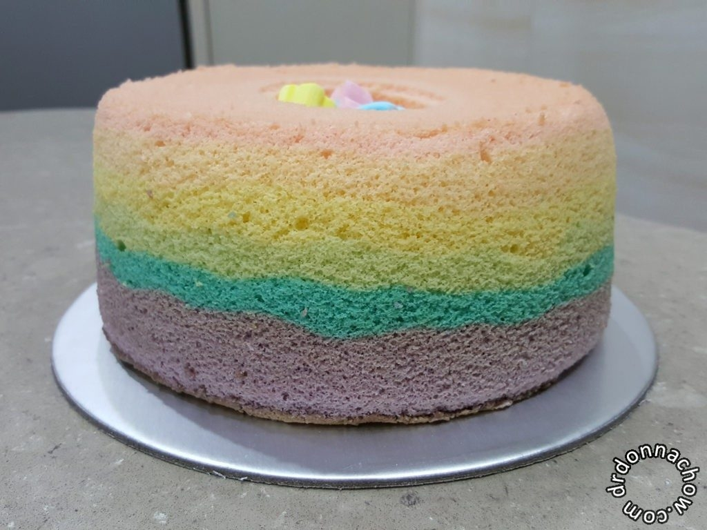 Baking A Rainbow Chiffon Cake For My Two Year Old Dr Donna Chow