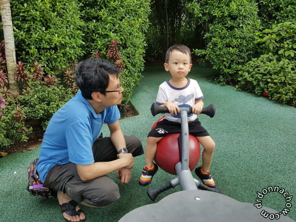 At a playground, Gardens by the Bay