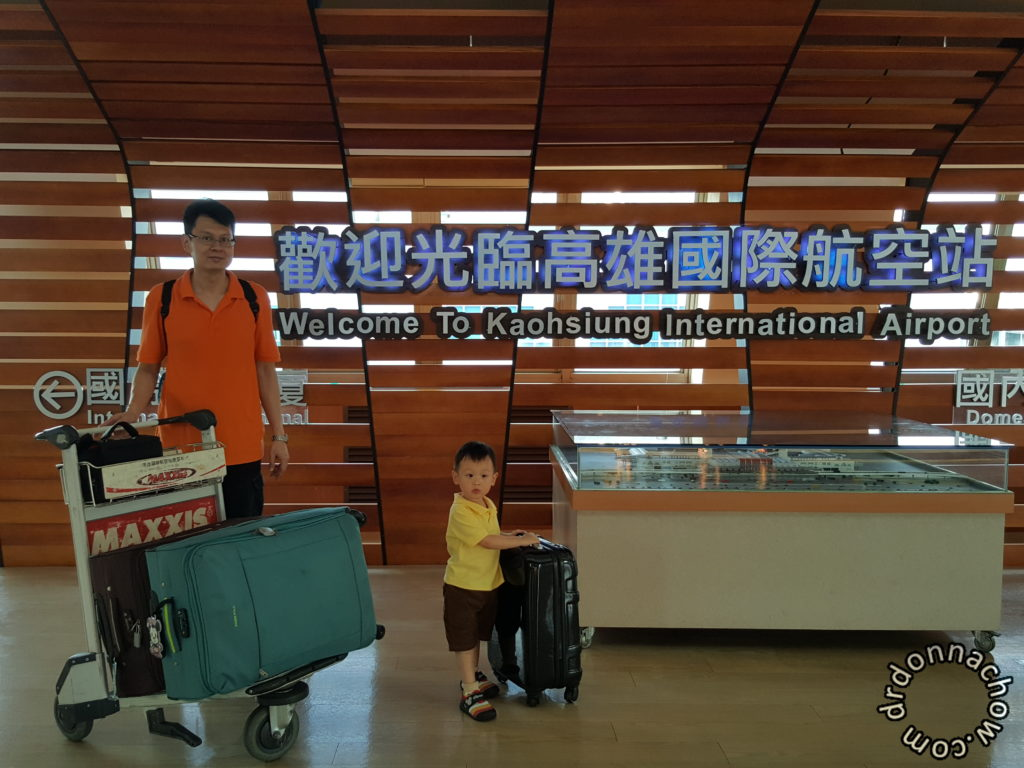 At Kaohsiung International Airport