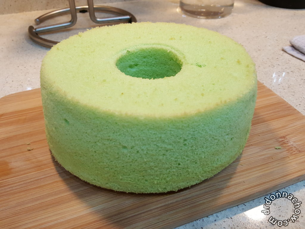 The unmolded cake