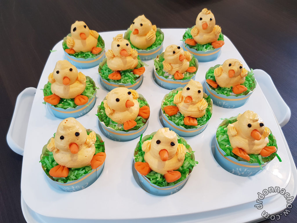 Home baked Chicken cupcakes