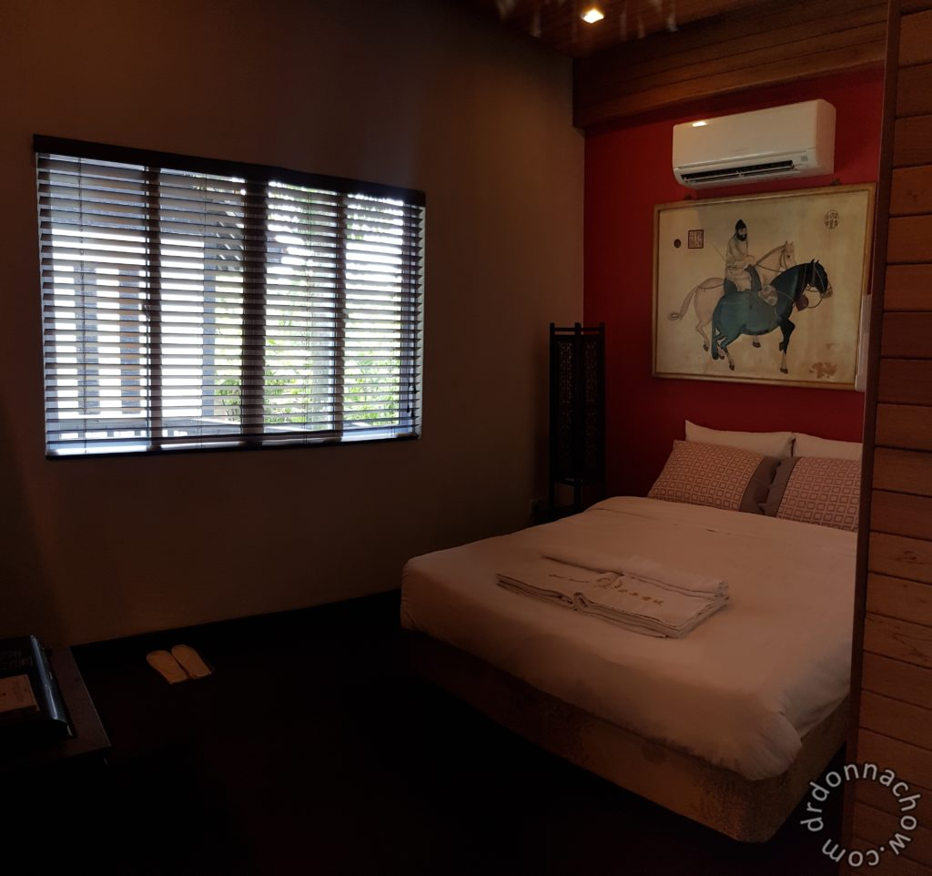 The main bedroom of the villa