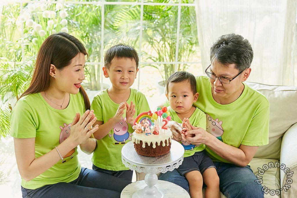 Mindon on his second birthday